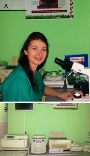 Slika 1.A. Vet.teh. Biljana Jevtić B. 'IVA VET' laboratorija za analize krvi